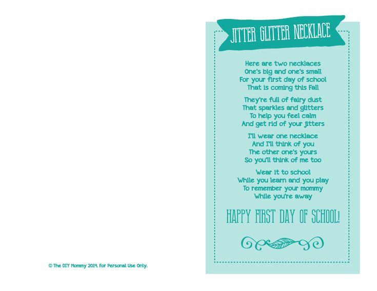 Jitter+Glitter+Necklace+Back+to+School+Gift+and+Free+Printable+Poem