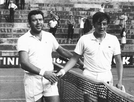 Nicola Pietrangeli e Adriano Panatta.