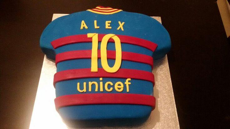 Tarta camiseta Barcelona