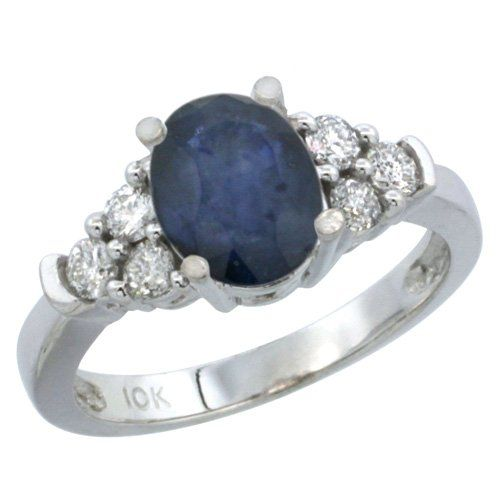 Angara Curvy Matching Band Sapphire and Diamond Ribbon Ring in 14k White Gold OqzCeOh