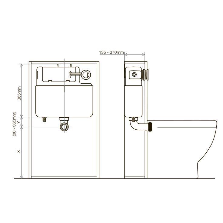 Soakology Concealed Cistern 6/3L