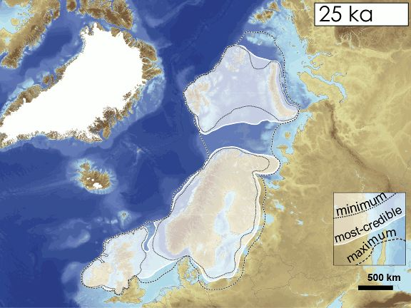Best Maps Haritalar Images On Pinterest Geography - Map of how last ice age affected us