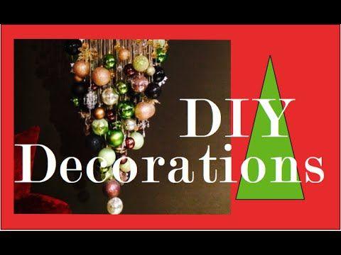 DIY Christmas Ball Chandelier | Christmas Decorations - YouTube