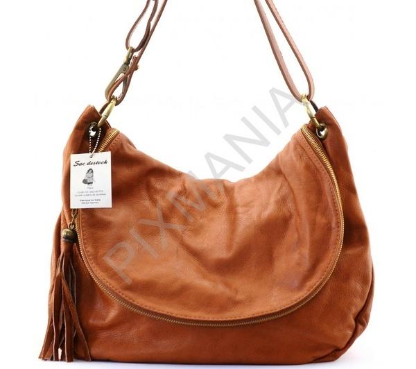 sac destock sac main cuir canberra cognac grand modle - Sac A Main Color