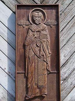 резная икона Николай Чудотворец,резьба по дереву,полностью ручная работа,купить или заказать, сделать подарок в качестве оберега,эксклюзивная работа от мастера