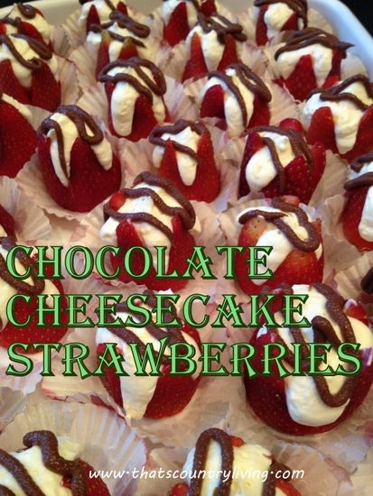 Chocolate covered Cheesecake Filled Strawberries
