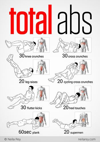 Total Abs Workout- I'm totally going to have to modify some of these moves to start. Leg raises are a no can do. I feel like Uma Thurman in Kill Bill looking down from hips to toes telling my legs to move. Lol, mind over matter ;)