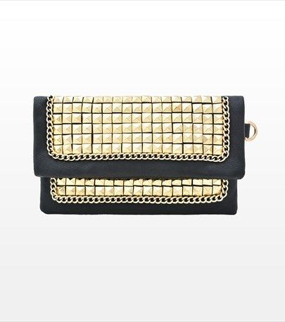 Studded Flap Over Clutch