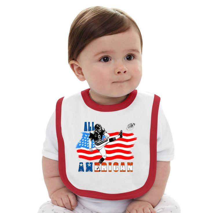 All American Football Field Goal Kicker Baby Bib