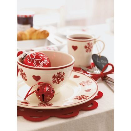 Red and White Handpainted Jingle Bells