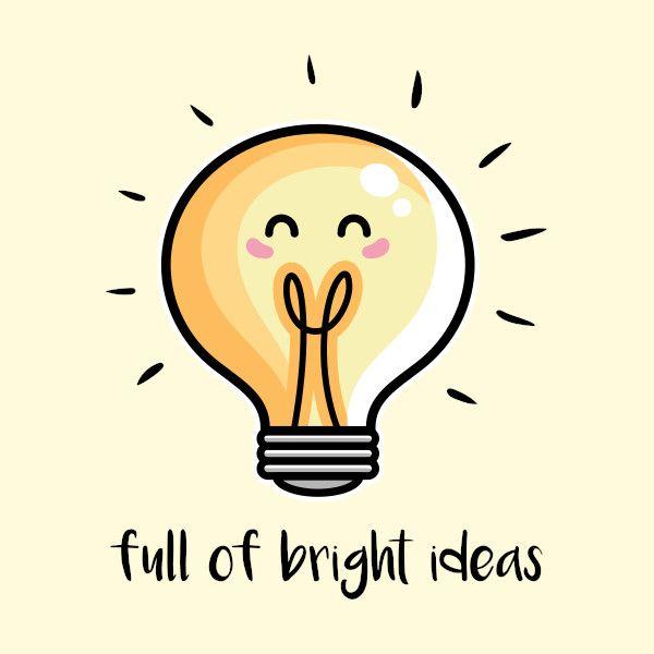 701e1b0524afa29241e3e5e5baf2195c » Cute Lightbulb Drawing