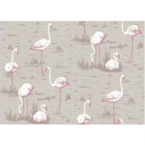 Carta da parati - Flamingos rosa chiaro