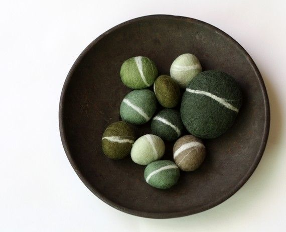 Fabulous Felted pebbles by delica on Etsy
