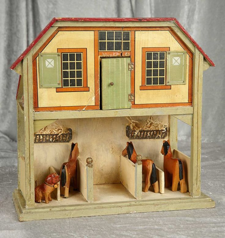 """17"""" German wooden stable by Gottschalk with upstairs apartment. $1000/1500"""