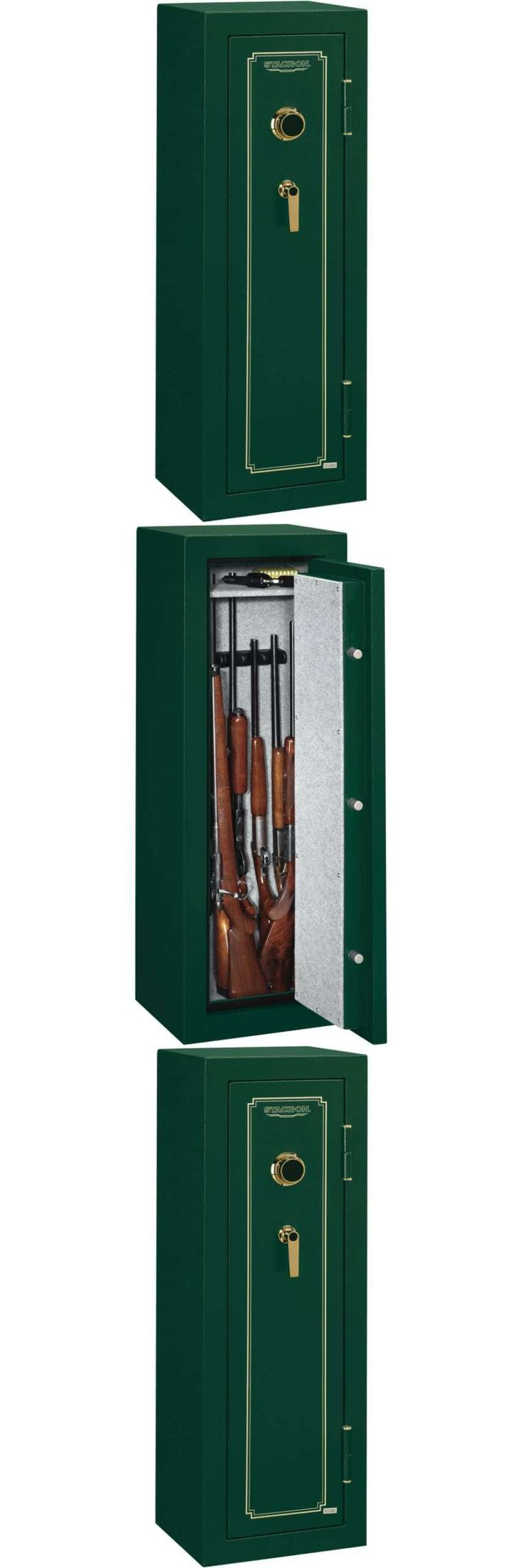 Cabinets and Safes 177877: Stack-On 8 Gun Fire Resistant Security Safe With Combination Lock Fs-8-Mg-C Hunt BUY IT NOW ONLY: $399.37