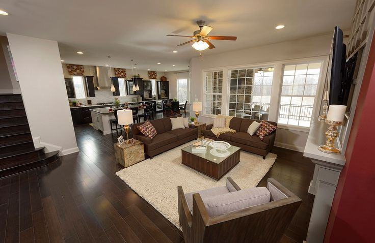 Family Room With Fireplace Peacefield Floor Plan Drees