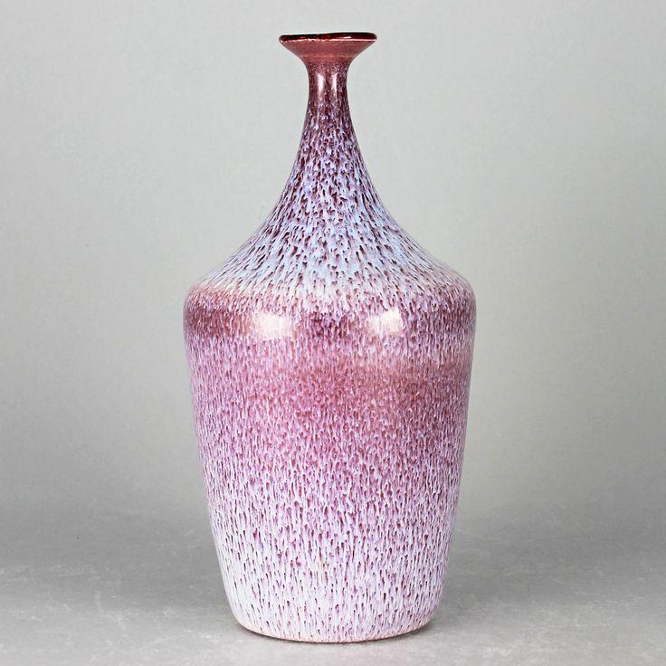 Gunnar Andersson (1994) Unique Snowy Purple Vase