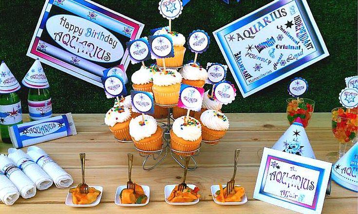 Printable Aquarius Birthday Party