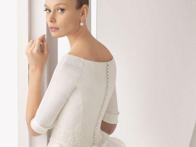 Elegantes vestidos de novia con mangas, para la belleza conservadora