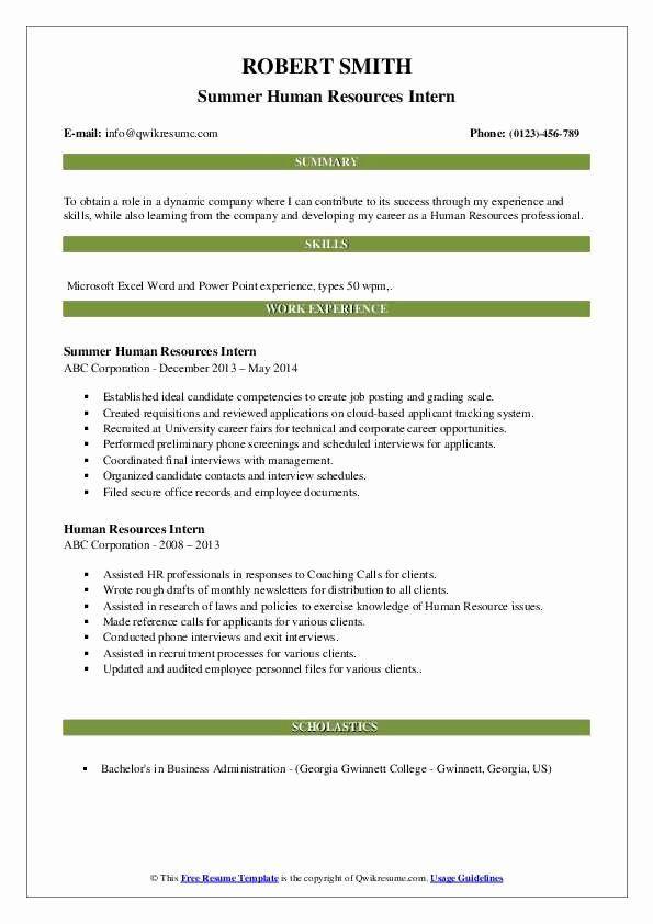 Human Resources Intern Resume Fresh Human Resources Intern Resume Samples In 2020 Internship Resume Resume Examples Receptionist Jobs