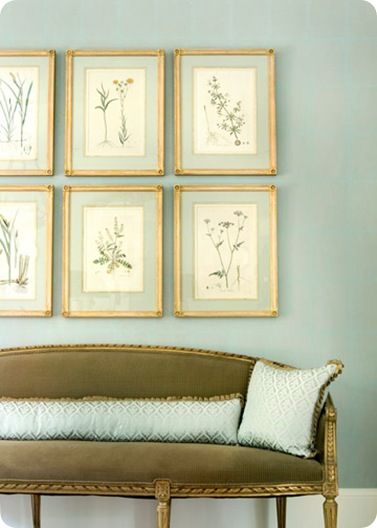 thinking gold frames and botanicals for my bedroom. @Libby Greene - let's Skype.