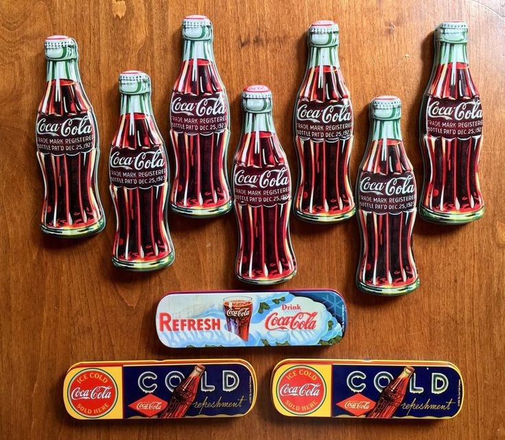 Large Lot of 10 Vintage Coca Cola Coke Pen Tin Combos Collectables Collection #CocaCola