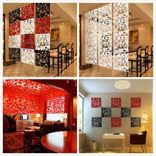 4 Stück Modern Aufhängen Bildschirm Trennwand Zimmer Wand Aufkleber Dekor