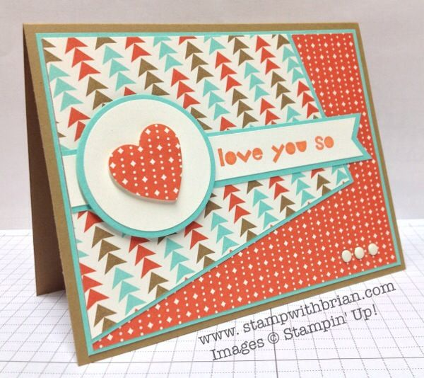 handmade card ... Retro Fresh for Freshly Made Sketches ... another great card by Brian King ... like the papers in retro colors and printed papers ... Stampin'Up!
