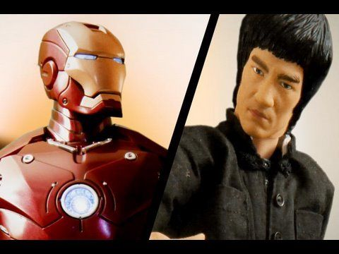 Iron Man fights Bruce Lee in stop motion... Created with  http://www.dragonstopmotion.com/