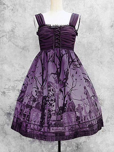 Moi meme moitie - Sleeping Garden JSK in purple