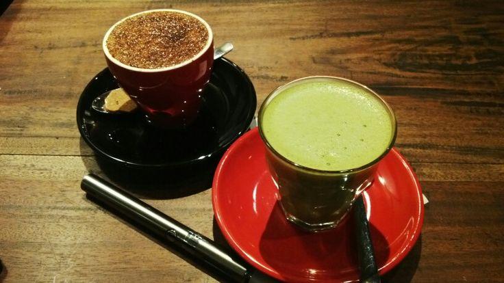 magic brulle & green tea latte