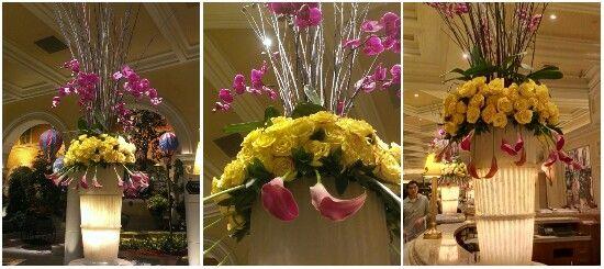 Here is my update of the summer flowers arrengements at the Bellagio Hotel lobbie, in Las Vegas, NV. September 2013.