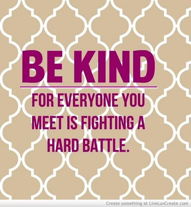 Be kind quote via www.liveluvcreate.com
