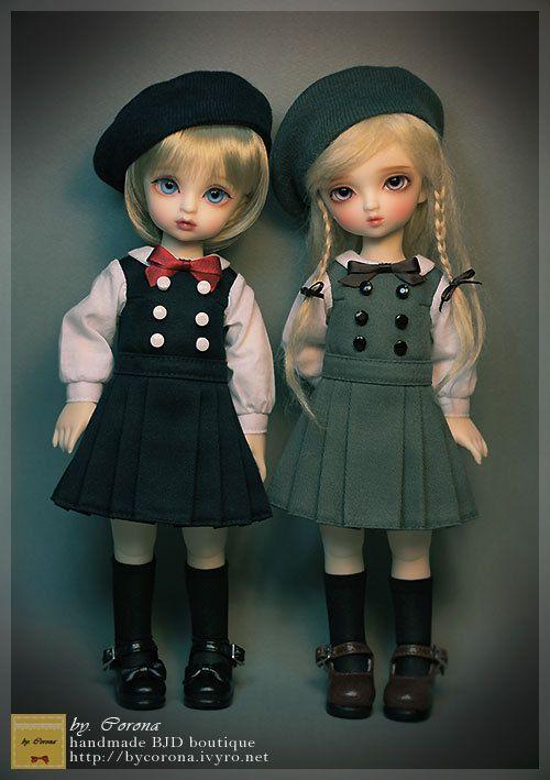 BJD YOSD clothes Classic School Uniform 1/6 BJD by bycorona