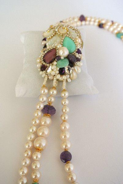 collana multifili con medaglione di TERRAZZANO su DaWanda.com