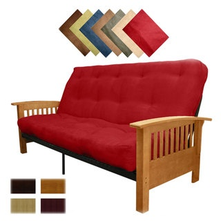 @Overstock.com - Brendan Queen Futon Mattress Set - This plush queen-size futon and mattress set by Epic Furnishings makes the perfect addition to your spare bedroom or den. When your guests are not sleeping on the luxurious mattress, fold the futon up to create a mission-style couch for extra seating.  http://www.overstock.com/Home-Garden/Brendan-Queen-Futon-Mattress-Set/4737544/product.html?CID=214117 $371.69