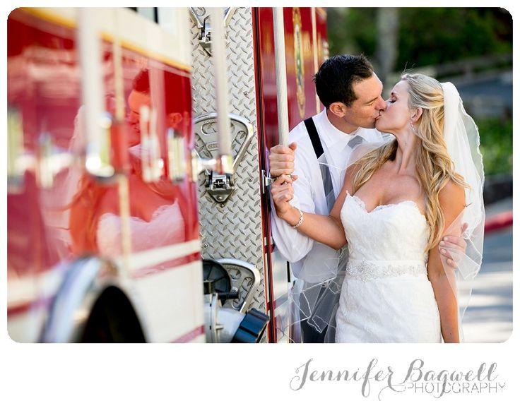 Bonnie + Kevin 2012 Marin County Wedding  {Sonoma County Photographer, Firetruck}