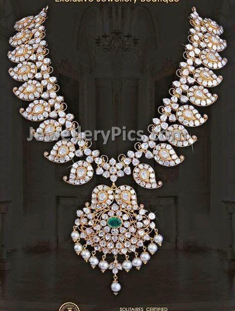 Mango design Pachi haram set - Latest Jewellery Designs