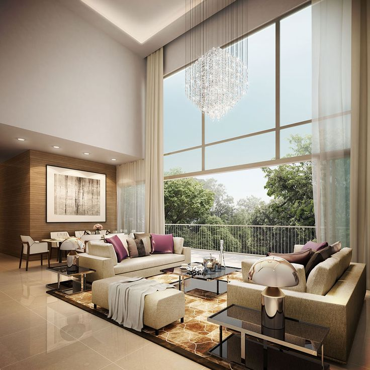 High Ceiling Decorating Ideas: High Ceiling Living Room, Kitchen With High Ceilings