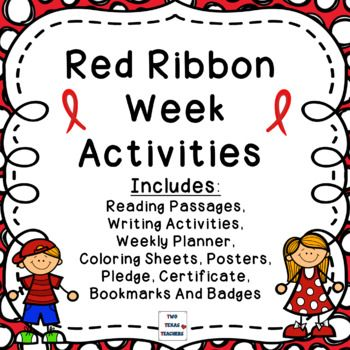 Celebrate Red Ribbon Week With This Fun Filled Activity Pack Will Help Students Learn About The Importance Of Being Drug Free