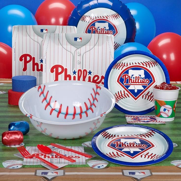 Philadelphia Phillies Baseball Party Supplies  #YoYoBirthday