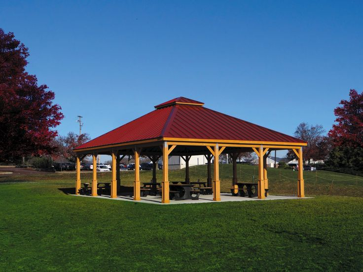 Outdoor Pavilions | Amish Country Gazebos