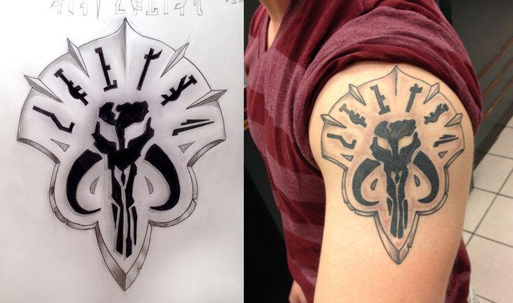 Quot Truska Quot Mandalorian Clan Tattoo For A Fellow Star Wars