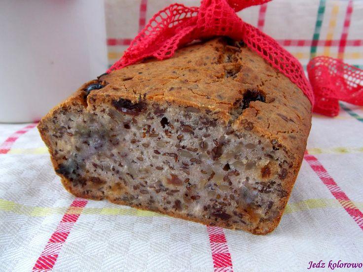 Jedz kolorowo: Bezglutenowy chleb gryczany (bez drożdży, bez zakw...