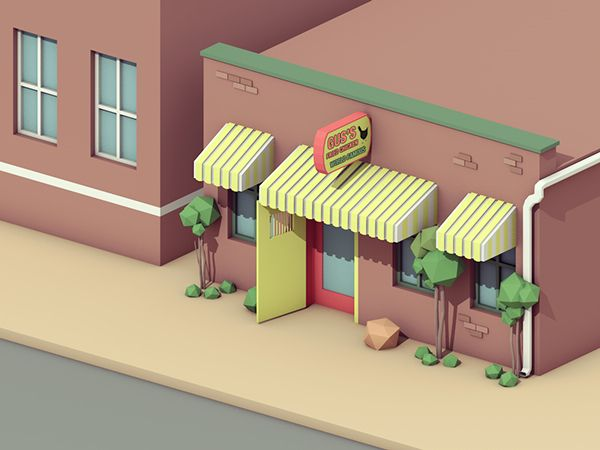 Low Poly Memphis on Behance