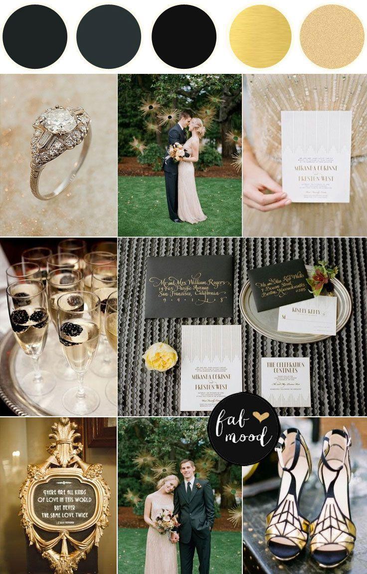 Jazz Age with a 1920s wedding theme | summer wedding theme colors ideas : fabmood.com