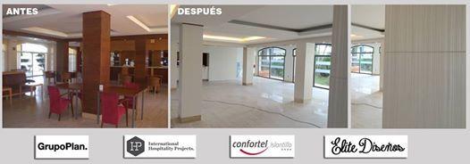 Espectacular antes y después record del @Confortel Islantilla con la confianza de @grupoplan_  e @IHP_  en #Infeel.