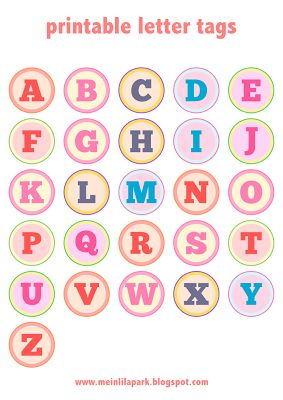 Free printable #alphabet letter tags /// #DIY stickers