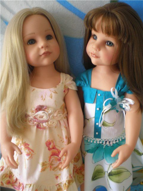 Sisters. Gotz dolls.