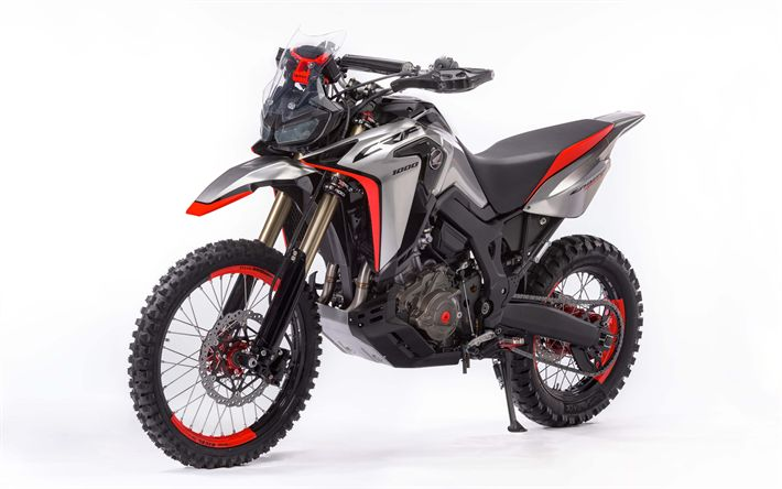 Download wallpapers Honda CRF1000L, Africa Twin Enduro, Sports Concept, 2017, new motorcycles, rally motorcycle, Honda